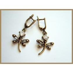 """558 Brass earrings """"Dragonflies"""""""