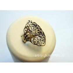 854 Žalvarinis žiedas