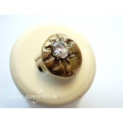 863 Žalvarinis žiedas su Cirkoniu