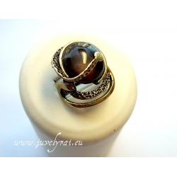 865 Žalvarinis žiedas su Tigro akim
