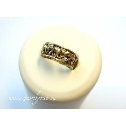 870 Žalvarinis žiedas