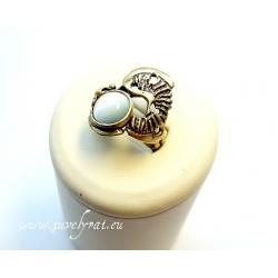 873 Žalvarinis žiedas su Katės akim