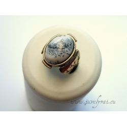 Žalvarinis žiedas su peizažiniu agatu