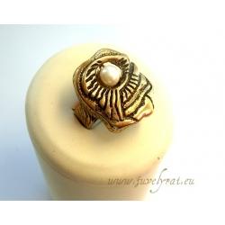 939 Žalvarinis žiedas su Kultūriniu Perlu