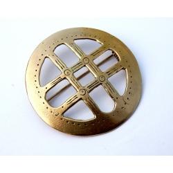 953 Brass Ethno brooch