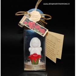04 rankų darbo molinis angeliukas su rožių kvapu