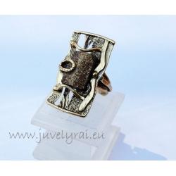 1153 Žalvarinis žiedas su Markazitu