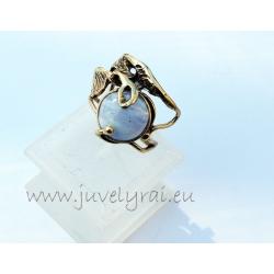 1156 Žalvarinis žiedas su Mėlynuoju Agatu