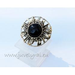 1157 Žalvarinis žiedas su Oniksu