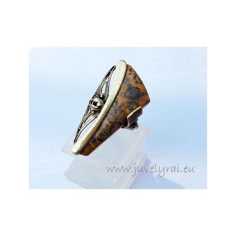 1301 Žalvarinis žiedas su Jaspiu