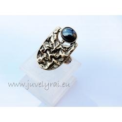 1305 Žalvarinis žiedas su Hematitu
