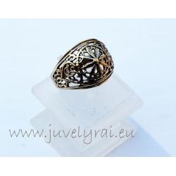 Žalvarinis žiedas zz61