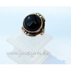 1310 Žalvarinis žiedas su Oniksu