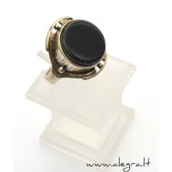 1520 Žalvarinis žiedas su oniksu