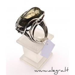 1521 Sidabrinis žiedas su Amonitu Ag 925