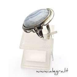 1524 Silver ring with Agate Ag 925
