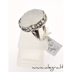 1526 Silver ring with quartz agate Ag 925