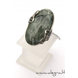 1531 Silver ring with Serpentine Ag 925
