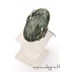 1531 Sidabrinis žiedas su serepenitu