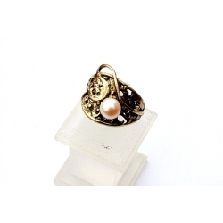 1542 Žalvarinis žiedas su Perlu