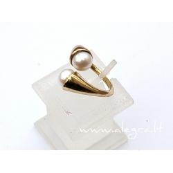 1543 Žalvarinis žiedas su Perlu