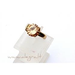 1544 Žalvarinis žiedas su Cirkoniu