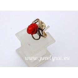 1545 Žalvarinis žiedas su Koralu