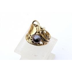1551 Žalvarinis žiedas su Perlu