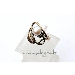 1552 Žalvarinis žiedas su Perlu