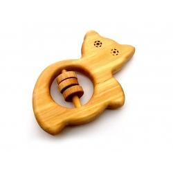 Wooden rattle - baby chewing toy