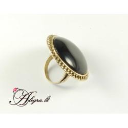 Žalvarinė žiedas su Oniksu