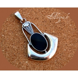 1755 Silver pendant with Onyx Ag 925