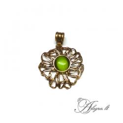 1878 Brass pendant