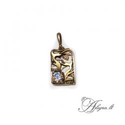 1884 Brass pendant with Zircon