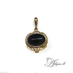 1904 Brass pendant with Onyx