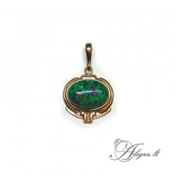 1908 Brass pendant with Zoisite