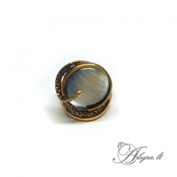 Žalvarinis žiedas Katės akis
