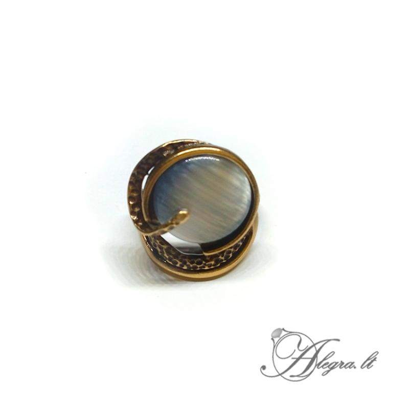 1934 Žalvarinis žiedas su Katės akim