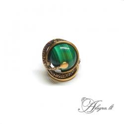 Žalvarinis žiedas Malachitas