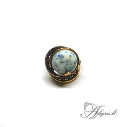 1936 Žalvarinis žiedas su Peizažiniu Agatu