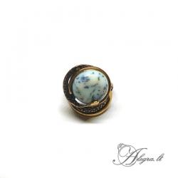 Žalvarinis žiedas Peizažinis agatas