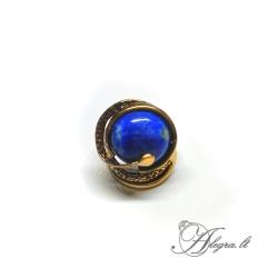 1937 Žalvarinis žiedas Sodolitas