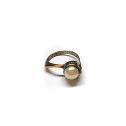 Žalvarinis žiedas Kultūrinis Perlas