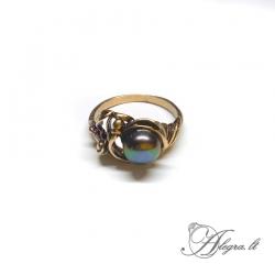 1940 Žalvarinis žiedas su Perlu