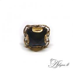 Žalvarinis žiedas Oniksas