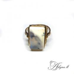 1942 Žalvarinis žiedas Peizažinis Agatas