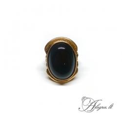 1944 Žalvarinis žiedas Oniksas