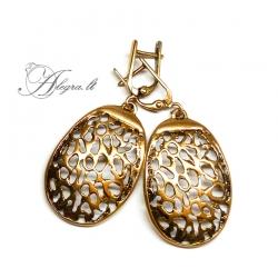 527 Brass earrings