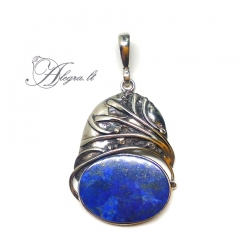 1977 Unique silver pendant with Lapis lazuli Ag 925