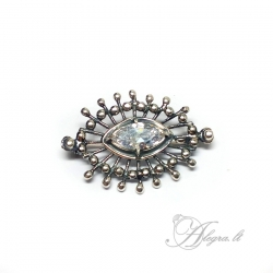 1991 Silver brooch with Zircon Ag 925